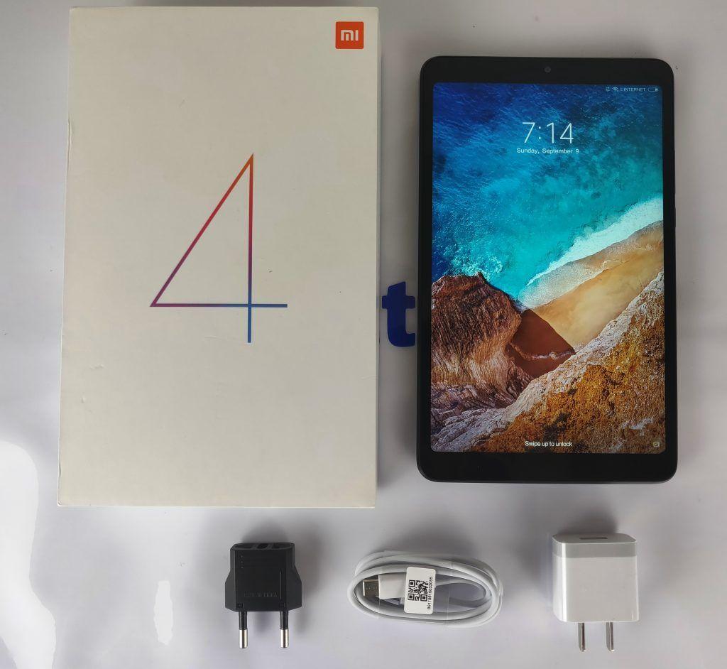 Xiaomi Mi Pad 4 confezione e contenuto