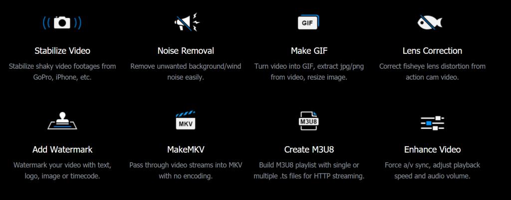 videoproc - funzioni