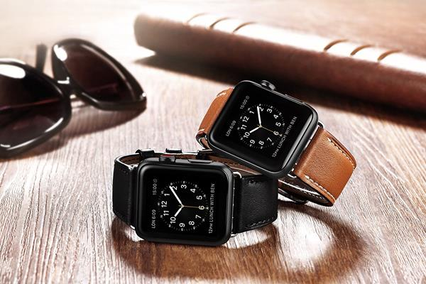Migliori cinturini Apple Watch 4: Cinturino iBazal in cuoio