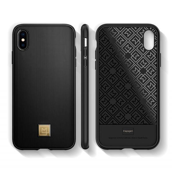 Migliori cover per iPhone XS Max: Custodia Spigen con placca in oro