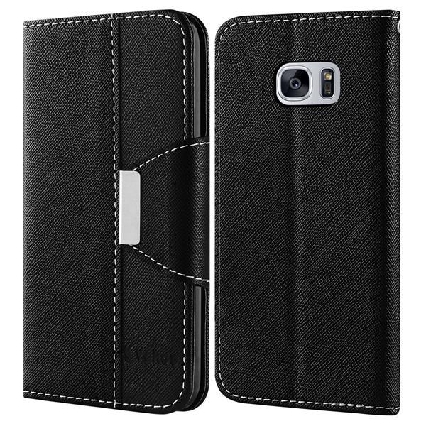 Migliori cover Samsung Galaxy S7: Custodia Vakoo a portafoglio in pelle sintetica