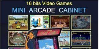 Mini cabinato per il retro gaming con 200 giochi classici