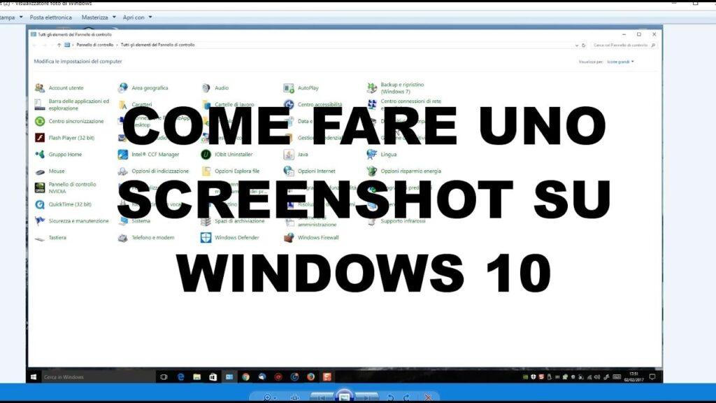 Come fare uno screenshot in Windows 10