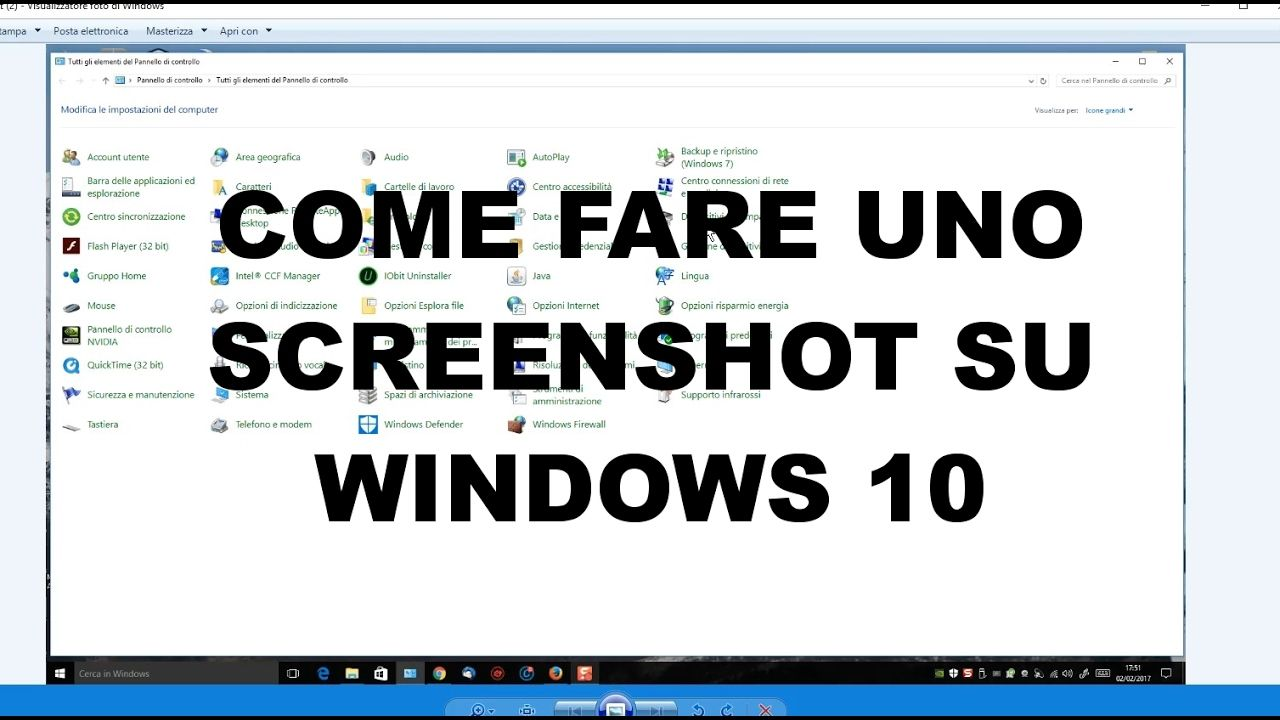 Come fare uno screenshot in Windows 10