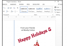 Come usare Word per creare biglietti di auguri e altri progetti