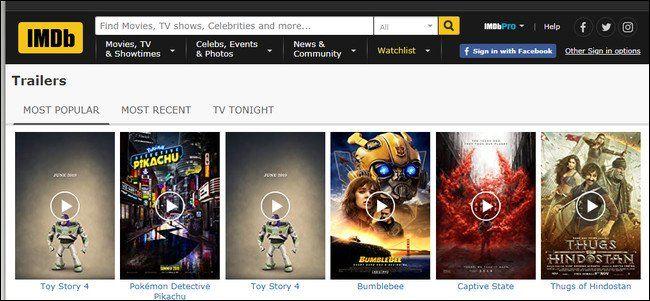 I migliori siti Web per la visualizzazione di trailer di film