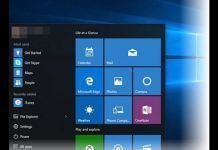 Il menu' start di Windows 10