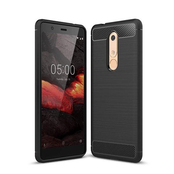 Migliori cover Nokia 5.1 Plus: Custodia Toppix in fibra di carbonio