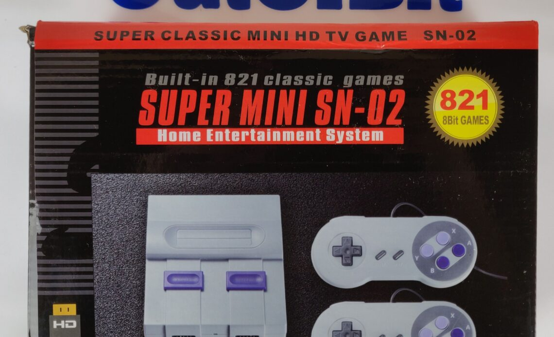 Recensione NES Mini cinese SN-02 - confezione