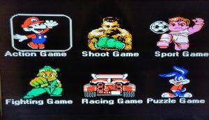 Recensione NES Mini cinese SN-02 - menu iniziale dei giochi