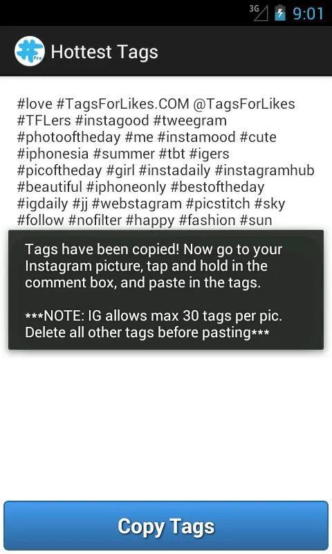 migliori app per hashtag instagram - tagsforlike