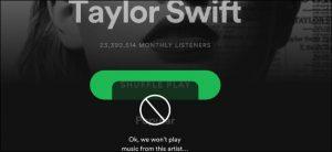 Bloccare artista Spotify