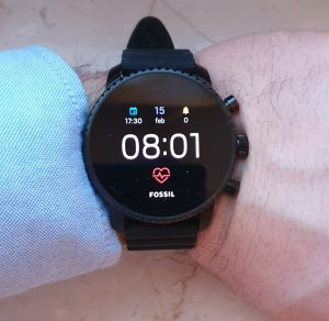 Fossil Q Explorist HR - android wear 2.0