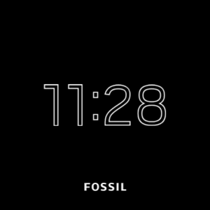 Fossil Q Explorist HR - screen always on display
