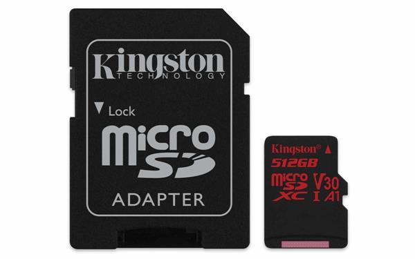 Migliori schede microSD Galaxy S10: Kingston SDCR 512GB