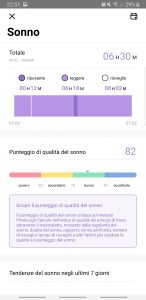Recensione UMIDIGI UWatch - app - sonno
