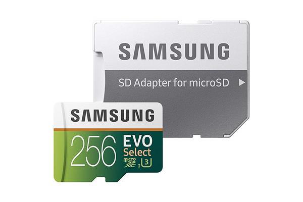 Migliori schede microSD Galaxy S10: Samsung EVO Select 256GB
