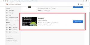 I risultati della ricerca nello store delle estensioni di Chrome