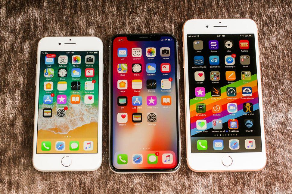 L'immagine di alcuni iPhone