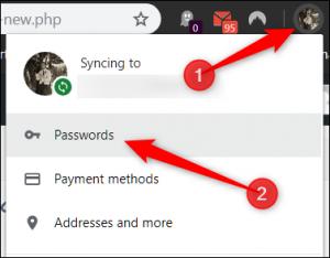 google chrome: gestire password 1