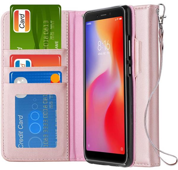 Migliori cover Xiaomi Redmi 6A: Custodia Ferilinso a portafoglio