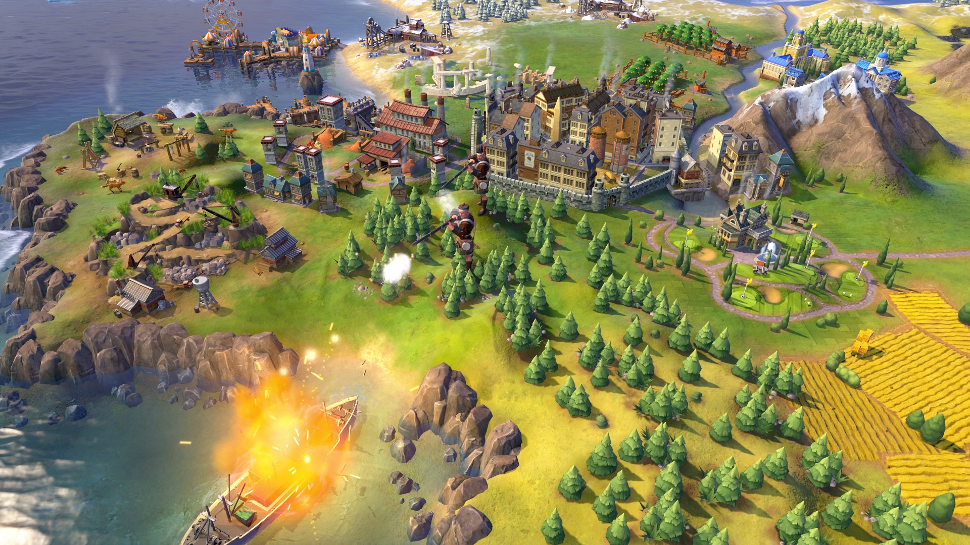 Una scena tratta da Civilization VI