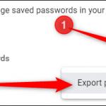 esportare password 1
