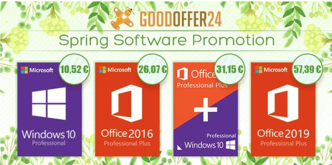 su goodoffer24 ci sono tante licenze software oem scontate