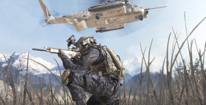 Una scena tratta da Call of Duty