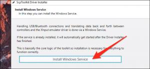 installare windows service