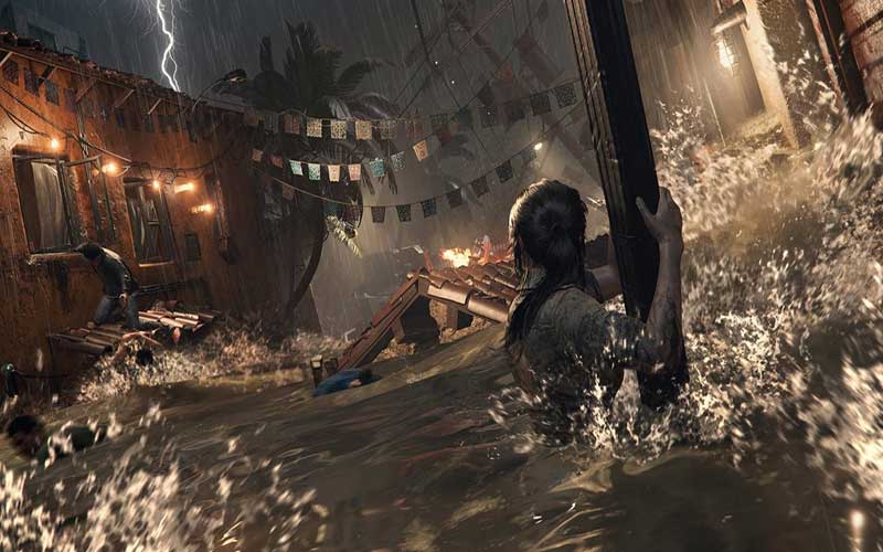 Una scena tratta da Tomb Raider per Mac