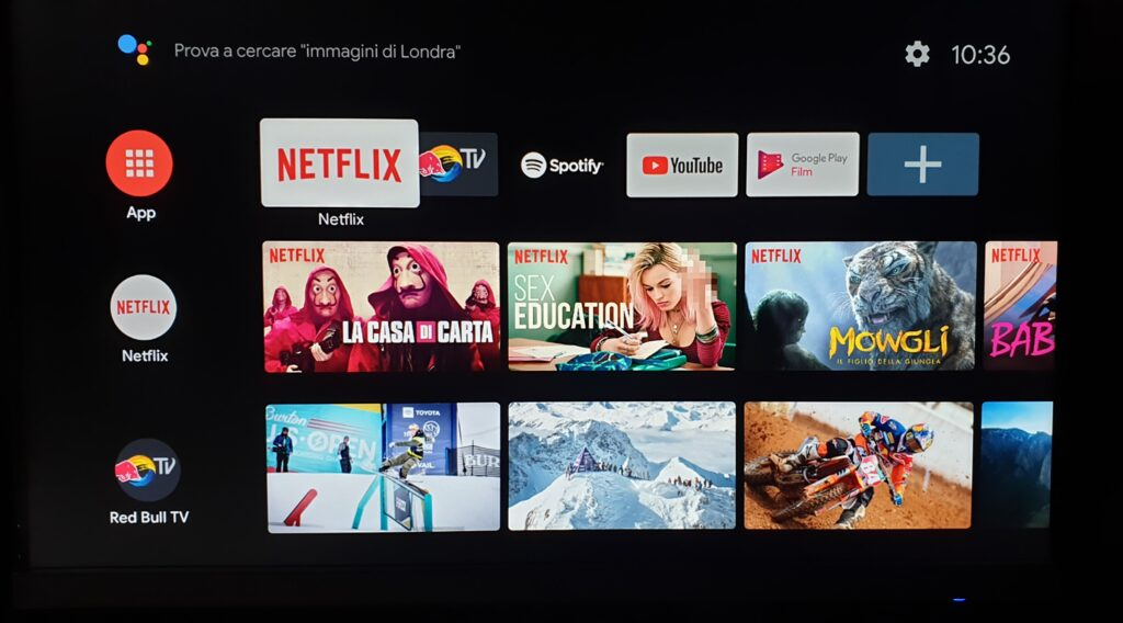 xiaomi mi box s home page android tv
