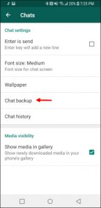 """Chat backup"" di WhatsApp"
