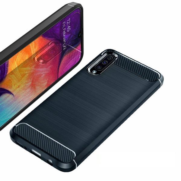Migliori cover Samsung Galaxy A50: Custodia Vguard in fibra di carbonio