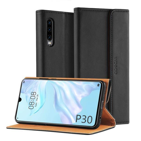 Migliori cover Huawei P30: Custodia WD&CD in pelle PU