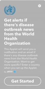 questa applet potrebbe salvarti la vita un giorno inviandoti alert riguardanti epidemie