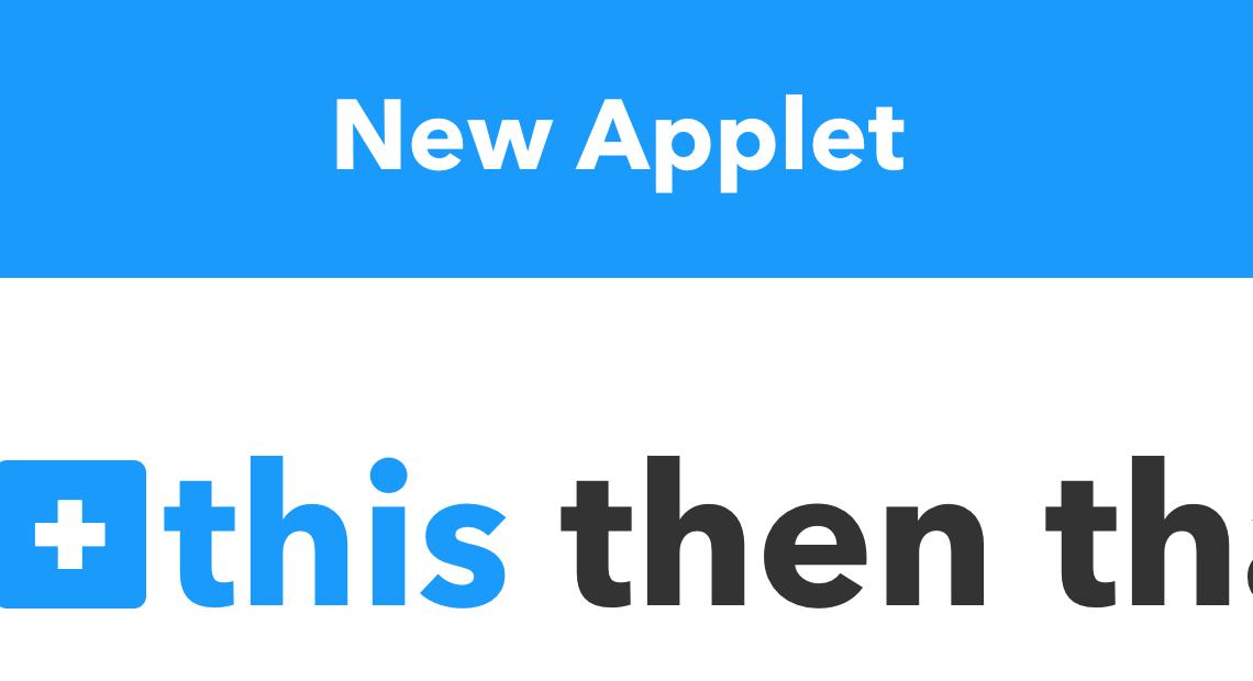 istruzioni da seguire per creare un applet su ifttt