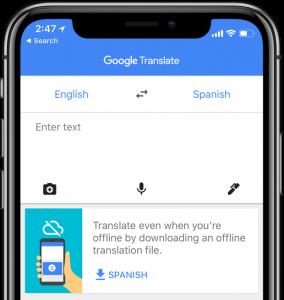 Google Traduttore mobile