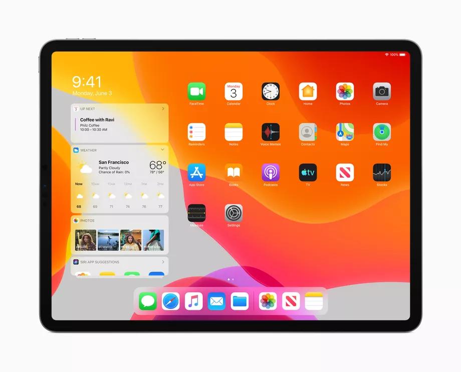 La schermata principale di iPadOS