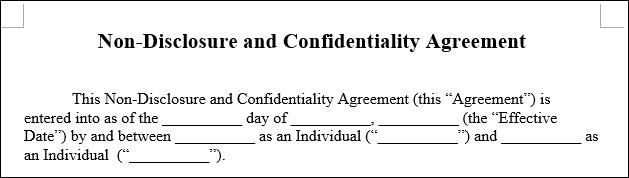 L'esempio di un contratto