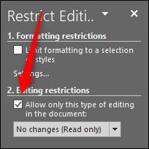 """L'opzione """"Restrizioni di modifica"""" in Word"""