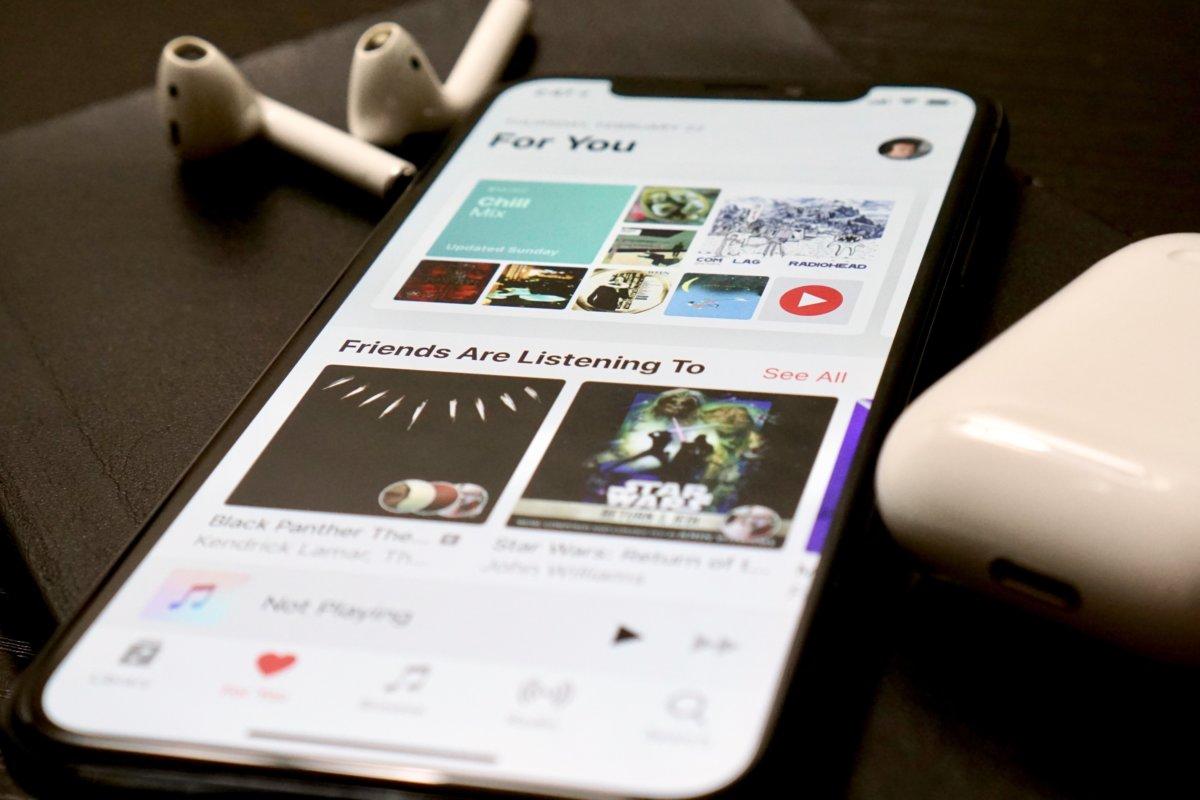 L'applicazione Apple Music in un iPhone