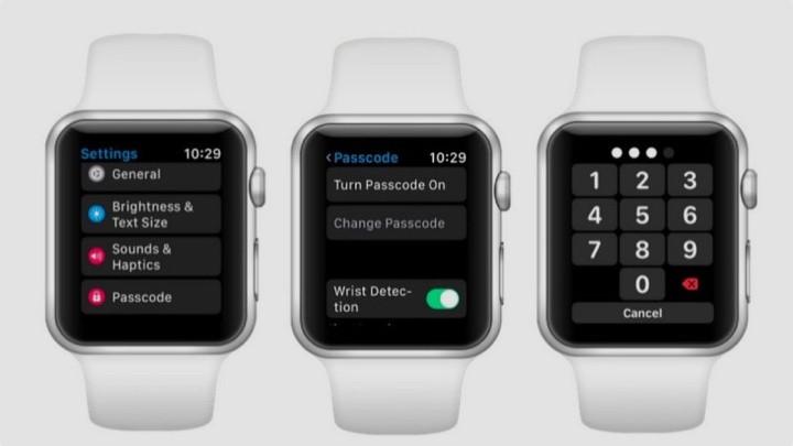 Un Apple Watch in cui è possibile scoprire come creare un nuovo passcode