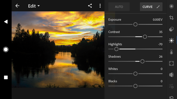 Adobe Lightroom per Android