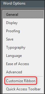 """La voce """"Personalizza barra multifunzione"""""""