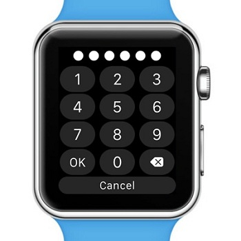 Un Apple Watch con passcode