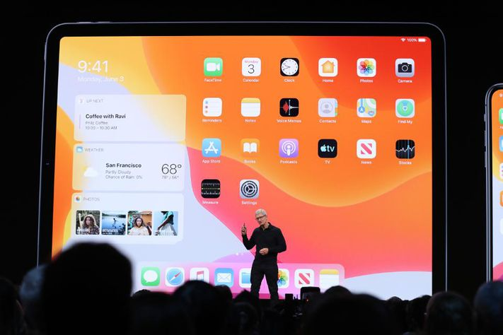 La presentazione dell'OS per iPad