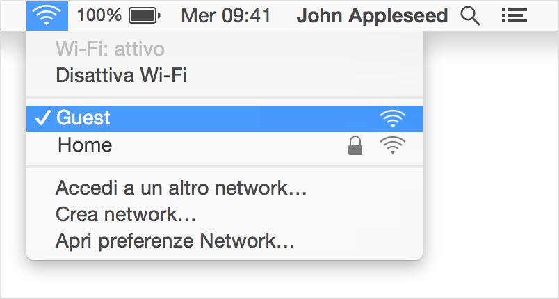 Il tasto da cui poter attivare il Wi-Fi in un Mac