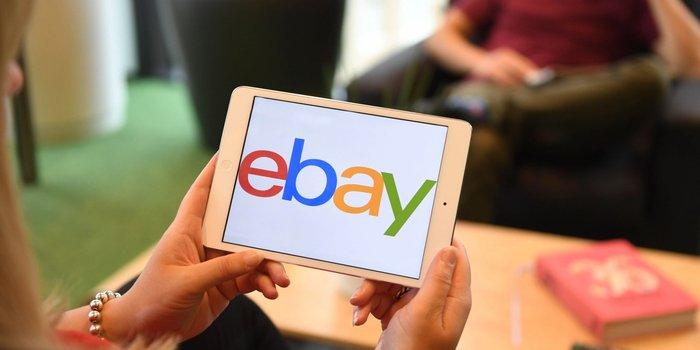 Il logo di eBay.