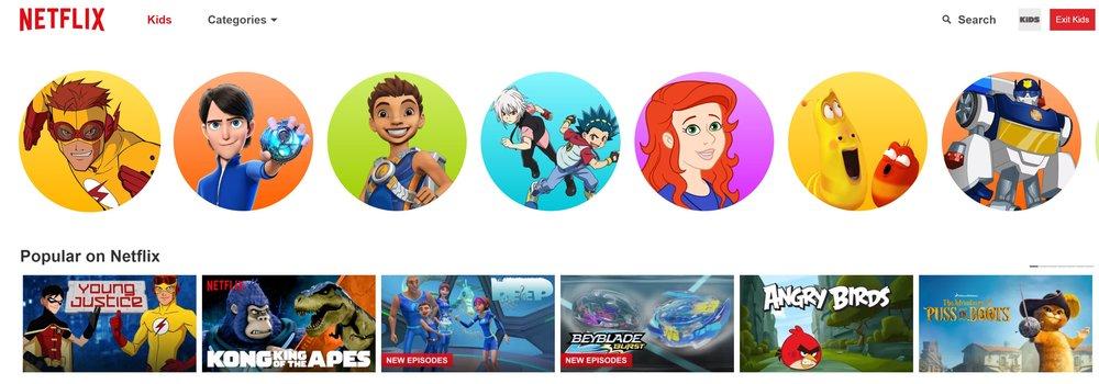 Un account Netflix con contenuti per bambini